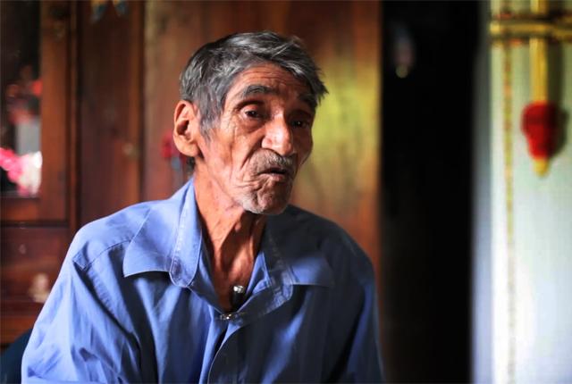 Sotero Guevara hoy tiene 73 años y vive en la comunidad Quebracho junto a su segunda esposa.