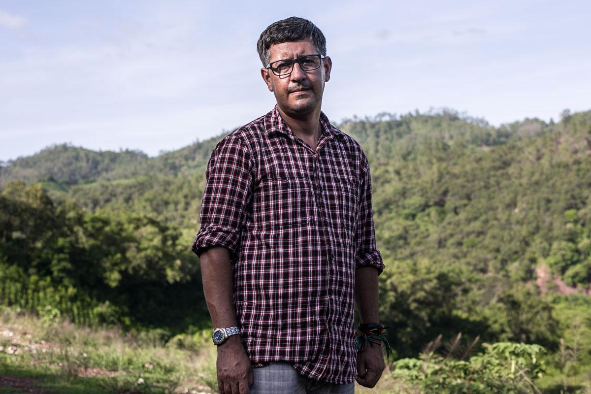 Ramón Rivera works for DESA as a liaison to the people of San Francisco Ojuera. He insists that hydroelectric projects bring development to the communities.