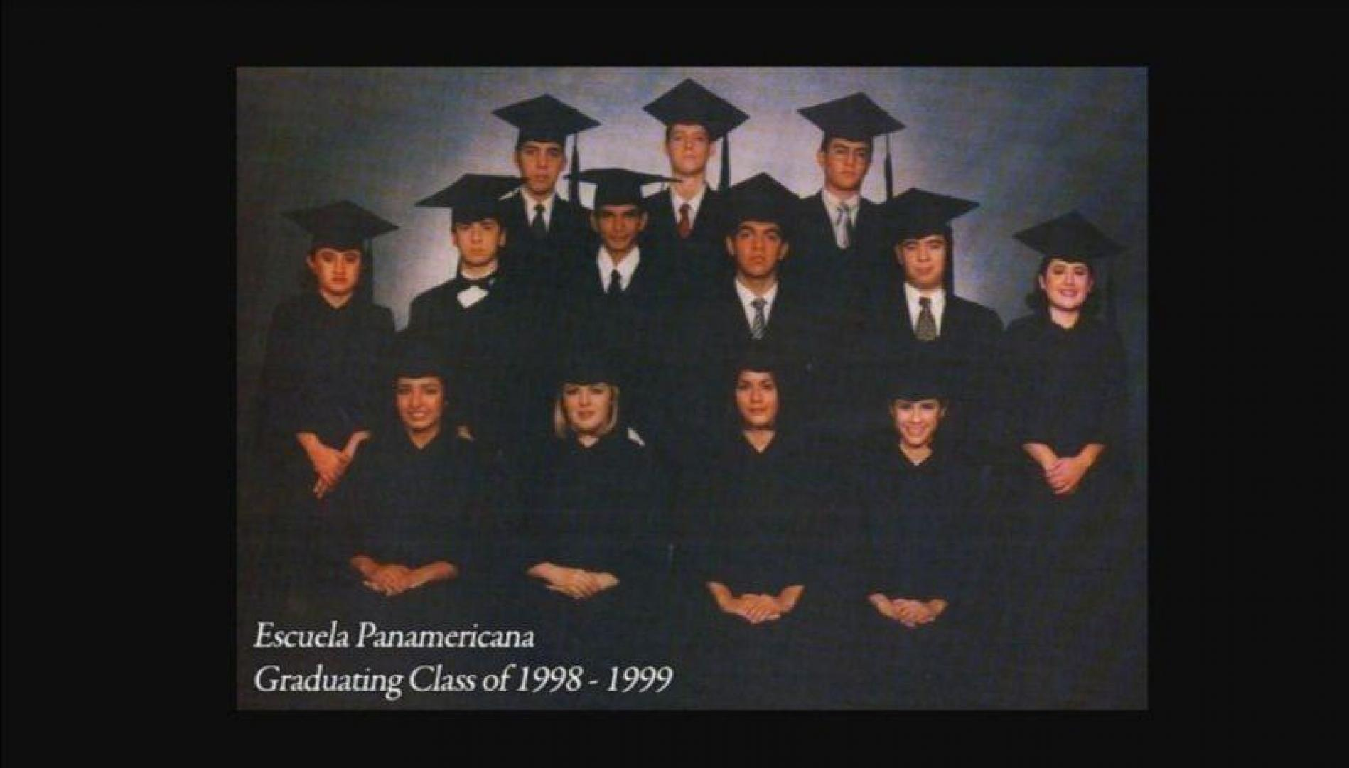 Several officials from the current administration graduated from the Escuela Panamericana, including the president himself. In the top row, from left to right, are the three inseparable friends: Nayib Bukele, Federico Anliker (current CEPA president), and Fernando López (current Environment Minister). Photo available on the Escuela Panamericana yearbook website.