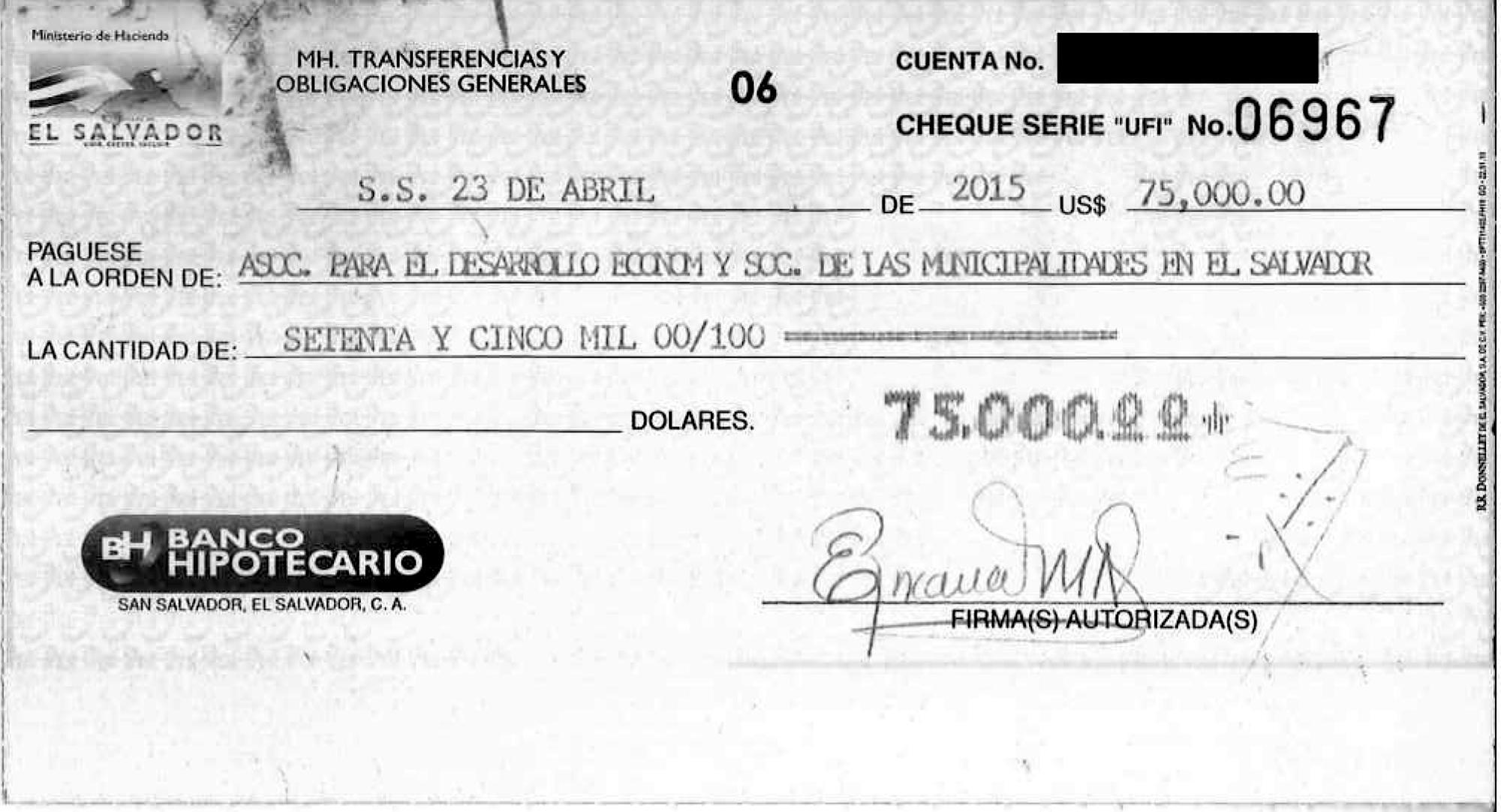 En 2015, la asociación recibió un cuarto de millón de dólares vía presupuesto general de la nación. En el presupuesto general de la nación 2016, el diputado Gallegos y la Comisión de Hacienda de la Asamblea autorizaron otros 300 mil dólares para Apdemes. De estos, Hacienda reporta la entrega de $100 mil a favor de Apdemes.