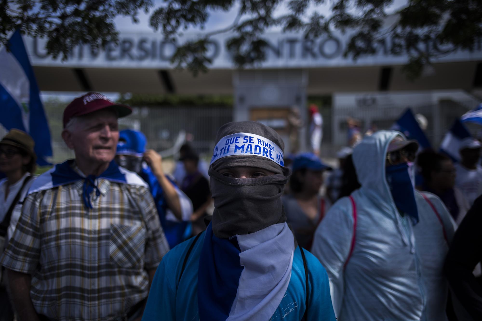 Los manifestantes, conocidos en Nicaragua como