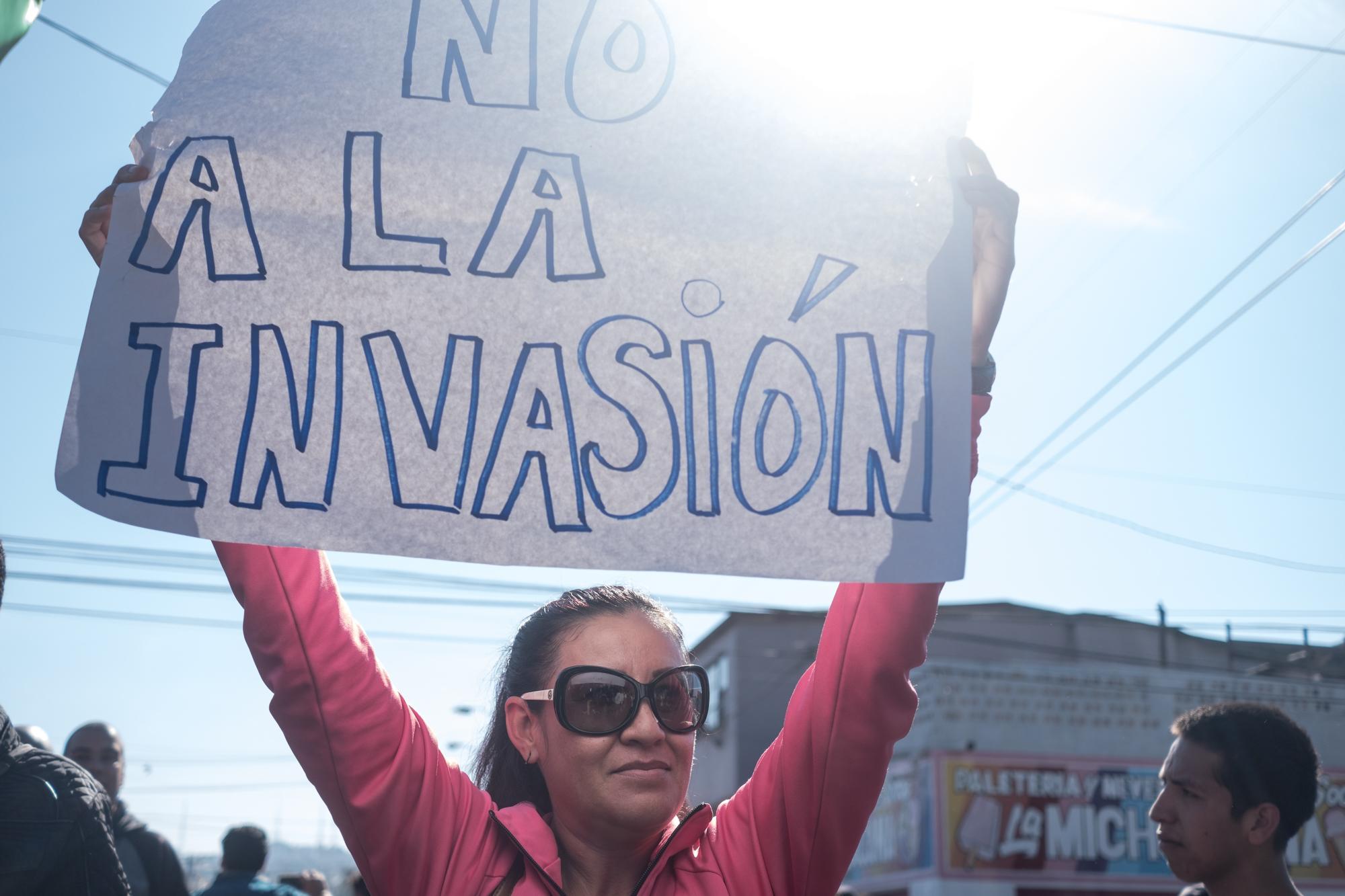 Muchos de los manifestantes que asistieron a la protesta del domingo 20 de noviembre aseguraban que estaban a favor de la migración, pero que la caravana de centroamericanos era una invasión que ponía en peligro la seguridad de México.