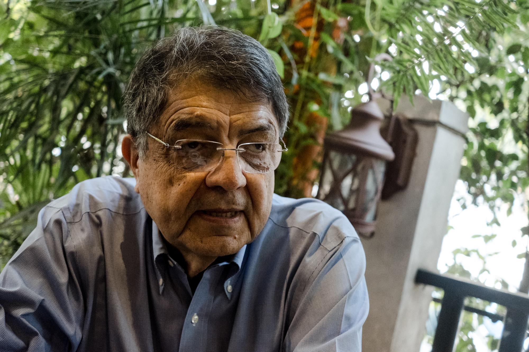 Sergio Ramírez es una de las voces intelectuales de mayor peso en Nicaragua. Crítico del régimen de Ortega, plantea con pesimismo que no se ve una salida a la crisis. Foto: Fred Ramos