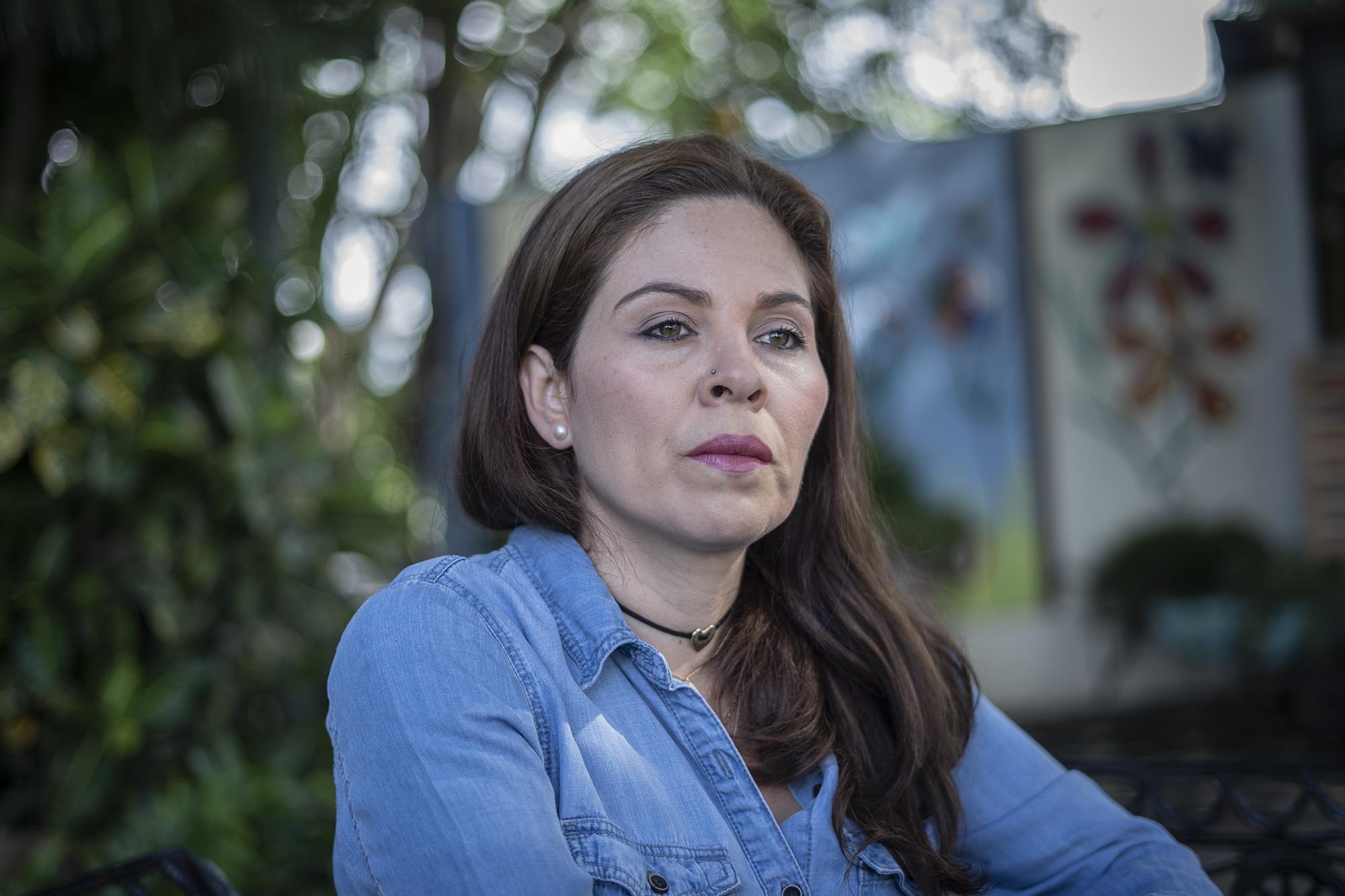 Bertha María Deleón durante una entrevista a El Faro: Foto Carlos Barrera