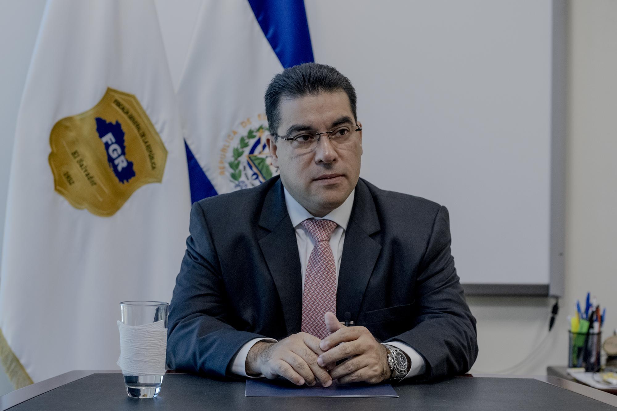 Raúl Melara, fiscal general, cumplió un año al frente de la Fiscalía General de la República. Concedió está entrevista a El Faro, el jueves 9 de enero de 2020. Foto: Fred Ramos
