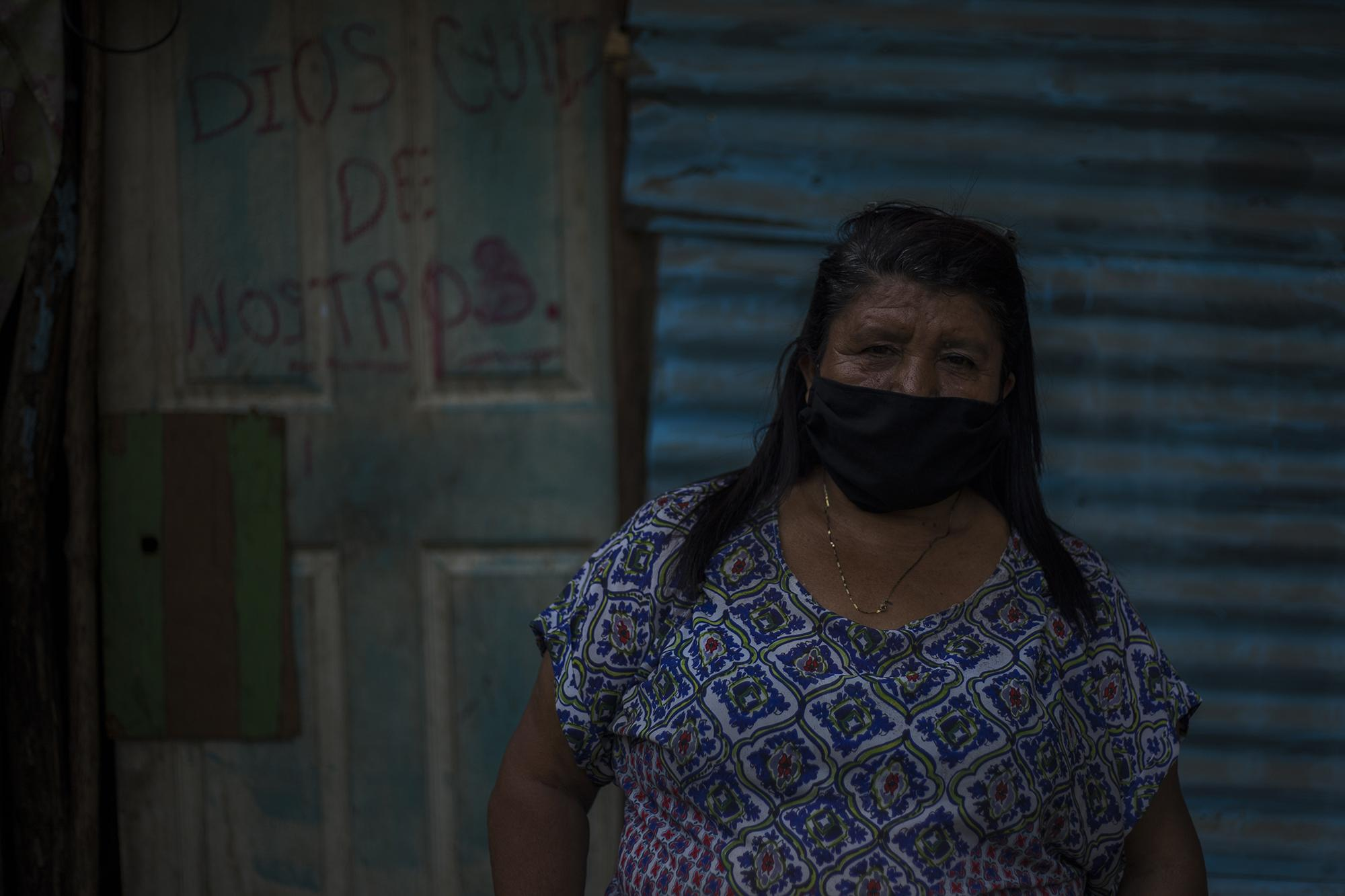 Daysi Quintanilla, a domestic worker, lives in the Chandanta community, in Cuscatancingo. After nearly half a century working as a domestic worker, she's been sent home without pay by her bosses. Photo by Victor Peña