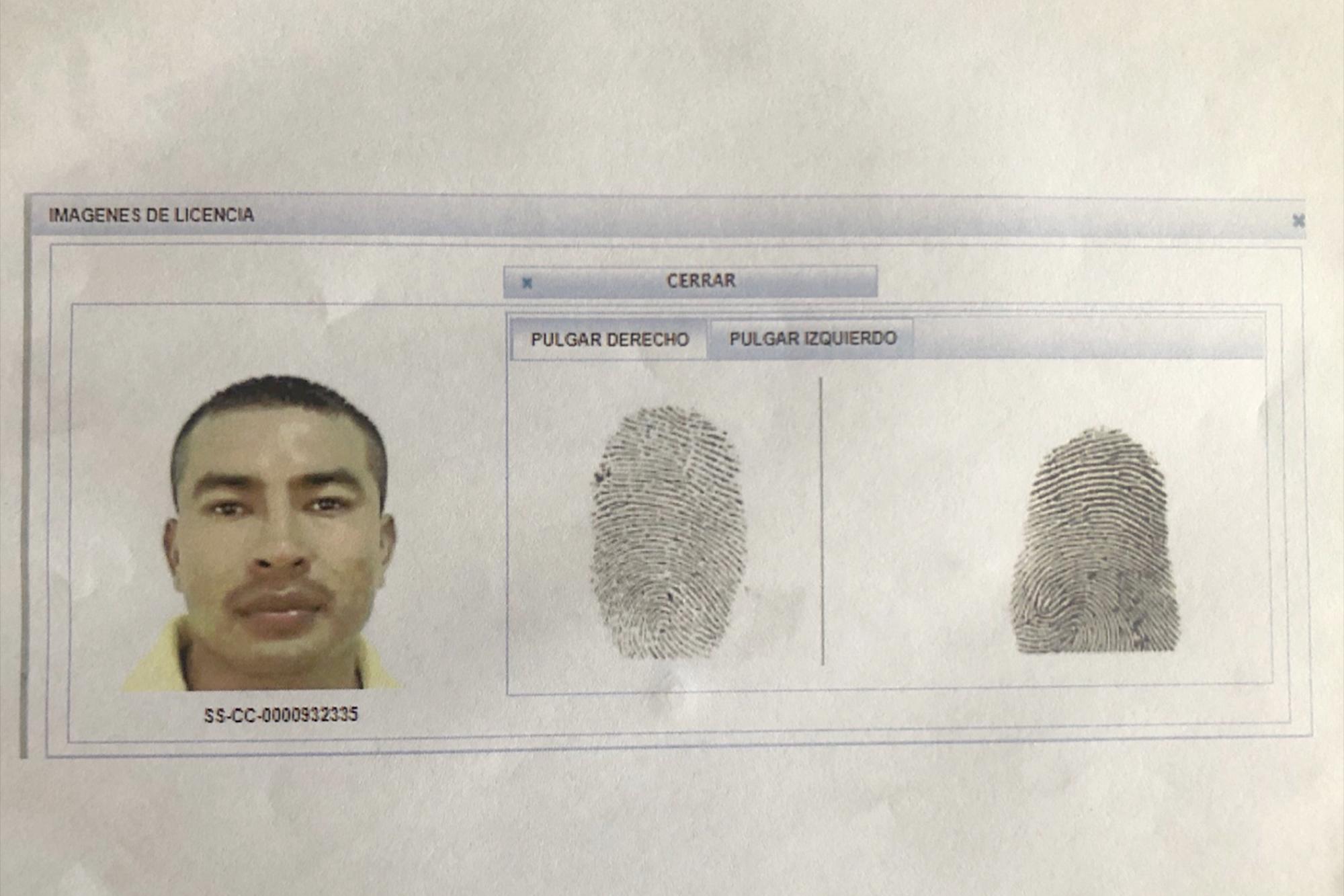 Imagen deDanilo Antonio Colocho Hernández, alias Chino Milo, ranflero de la MS-13, obtenida por El Faro de archivos fiscales.