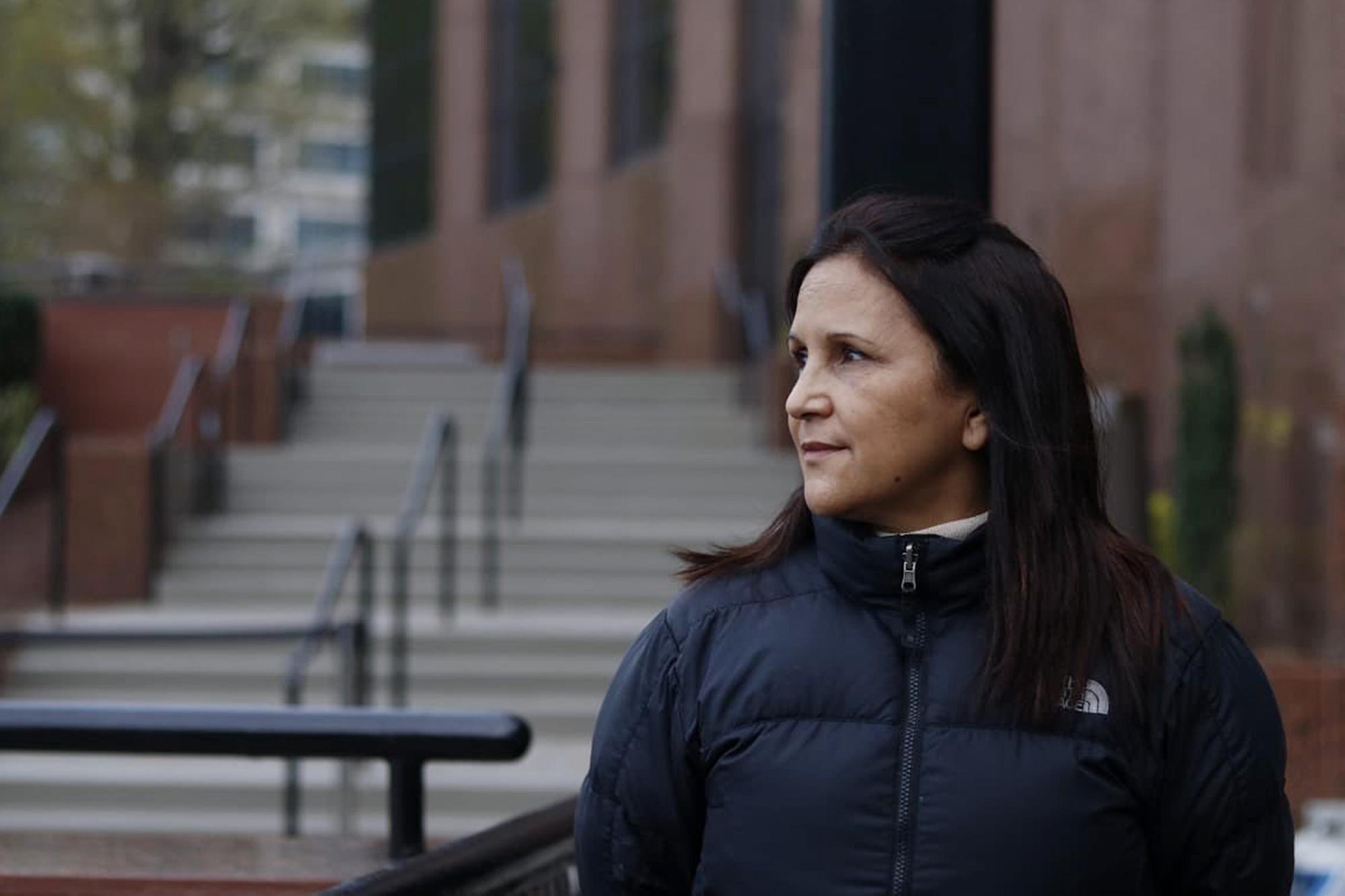 La jueza guatemalteca Gloria Porras, a las afueras de Washington D.C., el día de su entrevistacon El Faro. Foto El Faro, cortesía GS.