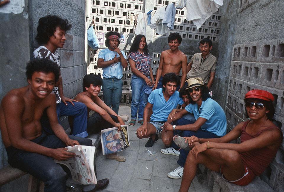 1985. Presos políticos en Mariona. Foto de Giovanni Palazzo.