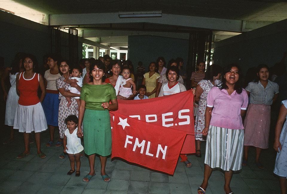 1985. Huelga de prisioneras políticas en Cárcel de Mujeres. El COPPES (Comite de Presos Políticos de El Salvador) fue una organización que funcionó dentro de las cárceles que tenían a los presos políticos que de alguna manera no fueron asesinados o tuvieron la suerte de ser